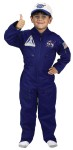 Flight Suit Child Costume - Your child will be all set to explore new frontiers in this great Jr. Flight Suit costume. One-piece jumpsuit, official-looking NASA embroidered cap, official NASA patches on jumpsuit and loaded with zipper pockets.