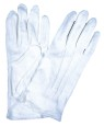 Good quality white cotton gloves at a low price. One size.