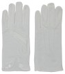 Adult Cotton Gloves With Snap White - good quality adult cotton glove that snaps at the wrist for a military look. Material: Cotton