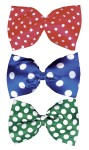 Jumbo Polka Dot Bow Tie - 15 wide. Polka dot bow tie with an elastic neck band.
