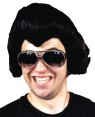 Rock Star Wig (Black) - Thick black wig of excellent quality. Slick-back style, ideal for Elvis impersonator, or any Rock Star character.    Dont pay more. Buy this here at guaranteed low prices.