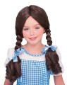 Dorothy Wig (Child/Adult Size) - Straight from the Yellow Brick Road comes one of the most popular wigs available…DOROTHY! Traditional brown pigtail wig with blue ribbons attached.