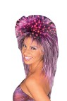 Fiber Optic Wig (Purple) - The ultimate party wig. Fiber optic strands scattered through the top of the wig light up to give a very dramatic effect. Includes: Watch 1.5 volt Silver Oxide battery.