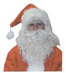 Santas Wig & Beard (Nylon) - Synthetic fiber, long wavy strands, make this a quality set. Best Value!
