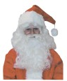 Deluxe Santa Wig & Beard - This professional wig has natural color, is made of Synthetic fiber, fully washable and is individually boxed.