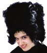 Monster Bride Wig - Synthetic black fiber wig streaked in white. Great wig for bride of Frankenstein character.