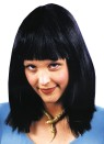 Cleopatra Wig - Famous Cleopatra style shoulder length straight hair with bangs.  Black only.