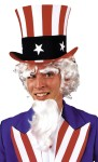 Uncle Sam Wig/Goatee/Eyebrows - Excellent quality wig, is hand washable and retains its style without setting. Includes goatee   and eyebrows to be applied with spirit gum.