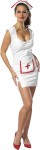 Nurse Feelbetter Adult Costume - White PVC dress with front zipper. Separate apron with red PVC trim and cross. White PVC nurse hat with red trim.
