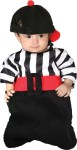 Foul Bunting Costume - Striped flannel referee style bunting with attached belt and matching hat.