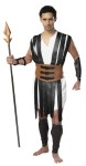 "Gladiator Adult Costume (Plus Size) - This is the Mans…Man of Roman Times! Gladiator costume includes: tunic with leather straps, belt, arm and shin guards. Spear not included. XX-Large 52-54, XXX-Large 56-58. Also available in Standard Size: <a href=""/GLADIATOR-COSTUME-Grp-123CS334.aspx"">CS334</a>."