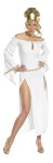 Lady of Rome Adult Costume - Includes:  sexy full length dress with split sides, draping sleeves, gold accents and headpiece. Costume is made of polyester.