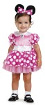 Minnie Mouse Infant Costume - Includes precious dress with character cameo and matching headband.