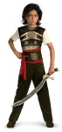 Classic Dastan Child Costume - Classic costume has a decorative top with attached belt and sash, detachable chest emblem, belt buckle and pants. Toy weapons are not included.