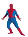 Spiderman Adult Costume (Plus Size) - Classic costume has jumpsuit and character fabric hood.