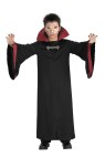 Evil Vampire Child Costume - Includes: quality robe with attached collar, matching sleeve accents, sculpted chest buckle and chinless mask. All included in this price.