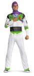 Classic Buzz Lightyear Adult Costume - Printed jumpsuit comes with character hood.