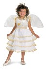 Angel Belle Toddler Costume - Dress with hooped skirt, detachable wings and halo.