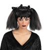 Dead Pigtails Wig - Goth style wigs with pigtail sides held in place with black bows.
