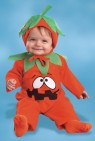 Pumpkin Pie Infant Costume - Includes: Walker with printed front leaf collar and bonnet with stem and leaf.
