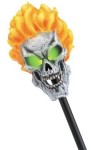Ghost Rider Staff - Light sticks give the skull eye sockets an eerie glow. One light stick included, batteries not included. Staff measures 26 inches long. Vinyl. *Copyright 2005 Marvel Characters, Inc. All Rights Reserved.