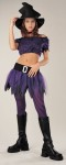 Witch Teen Costume - Includes: Spiderweb top, miniskirt with belt buckle, tights and witch hat. (choker not included)