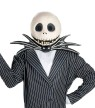 Jack Skellington Mask - Complete over-the-head vinylmask with screen eyes.