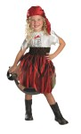 Sassy Swashbuckler Child Costume - This playful pirate includes dress with skull and cross bones applique and bandana headpiece. Toy weapon sold separately.