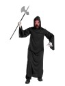 Fire Demon Mask (Child Size) - Truly frightening! Easy to wear ghoul stocking mask and hooded robe.