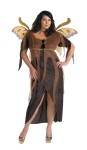 Autumn Fairy Adult Costume (Plus Size) - Dress with detached sheer overlay, wings and neck ribbon.  Plus size 18-20.