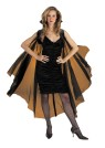 Sheer Cape (Black) - 58 inches. Nylon bolero style cape with attached cape. Add to any vampiress or Gothic costume for the most realistic look possible. Made of 100% Polyester.