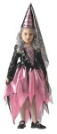 Princess Child Costume - This little Gothic Gal is something to behold!  Includes: dress with jagged design overskirt and a gothic cone style hat. Very stunning!