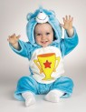 Care Bear Champ Infant Costume - Includes: Plush Jumpsuit and attached character hood. Material : Acrylic / polyblend.