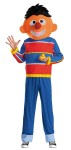 Retro Ernie Adult Costume - Grab your rubber ducky and get ready to have a blast in this Ernie from Sesame Street costume. Red and blue horizontally-striped shirt, blue pants and plush headpiece. Rubber duckie not included.