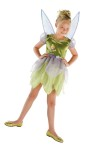 Tinkerbell & The Lost Treasures Child Costume - Your special little girl will feel magical in Disneys Tinkerbell costume! Dress with sparkle tulip skirt and detachable wings. Does not come with shoes.
