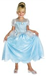 Cinderella Classic Child Costume - Your child can be a little princess with Disneys Cinderella Classic Costume. This is an adorable silver trimmed dress with shimmering sparkle overlays, character Cameo, & attached faux pearls. (Shoes not included)