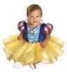Dress your infant in this mysteriously enchanting Snow White Costume. Dress includes beautiful gold sparkle print overlay, puff sleeves, & character cameo (Hairbow & shoes not included).