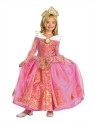 With an outfit like this one your child will have a hard time getting any sleep. This Classic Costume includes top quality dress with pink and gold sparkle overlay, attached petticoat, glitter character art, gold tiara headband and character cameo (Shoes not included). Storybook Prestige Quality Costume.