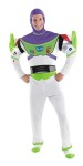 Buzz Lightyear Deluxe Adult Costume - Get ready to fly to infinity and beyond in this deluxe Buzz Lightyear costume. Includes jumpsuit, detachable character hood, jet pack, glowsticks and boot covers.