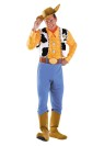 Now you can dress up as one of Disneys most beloved characters! Woody Deluxe Adult Costume inlcudes jumpsuit with printed shirt and belt, attached vest with gold sheriffs star and attached boot covers, matching handkerchief, and cowboy hat.
