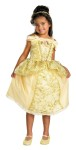 Belle Deluxe Child Costume - Inlcudes dress with petticoat, sparkle-printed overlay, character cameo, and matching headpiece.