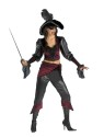 Buccaneer Beauty Adult Costume - One sexy pirate! Top, pants with attached sash, hat and eye patch. Sword sold separately.