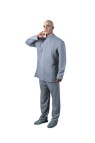 Deluxe Dr. Evil Adult Costume - Includes: Jacket, Pants and Bald Cap. Fits up to 46.