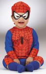 <P>Spiderman Infant Child Costume includes bodysuit with Spiderweb hat and character eye mask. Polyester.</P>