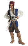 Quality Disney Jack Sparrow Child Costume - Includes shirt with attached vest, sash, belts with buckles, pants and bandana with beads and braids.