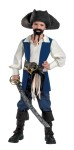 Disney Captain Jack Child Costume - Shirt, vest with sewn in fabric sash and two attached belts with buckles. *Boot covers, pants, pirate sword, hat, moustache and goatee not included. *Copyright Disney.