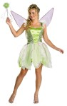 Deluxe Tinkerbell Adult Costume - Deluxe costume has dress and detachable wings. Wand not included.