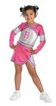 Barbie Team Spirit Child Costume - Cheer your team to victory with the Barbie Team Spirit costume. Includes pink and silver top and skirt, shorts with Barbie logo and hair ties.