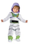 Buzz Lightyear Infant Costume - Jumpsuit with snap front legs, detachable character hood and booties.
