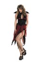 Veinia Adult Costume - Open front dress with scalloped overlay and attached wings.